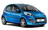Peugeot 107 car rental at Bari, Italy