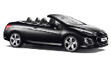 Peugeot 308 Convertible car rental at Florence, Italy